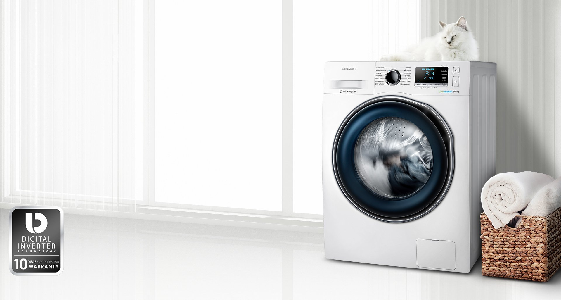 Samsung Washing Machine ~ Samsung s ww ecobubble can wash a kg load in