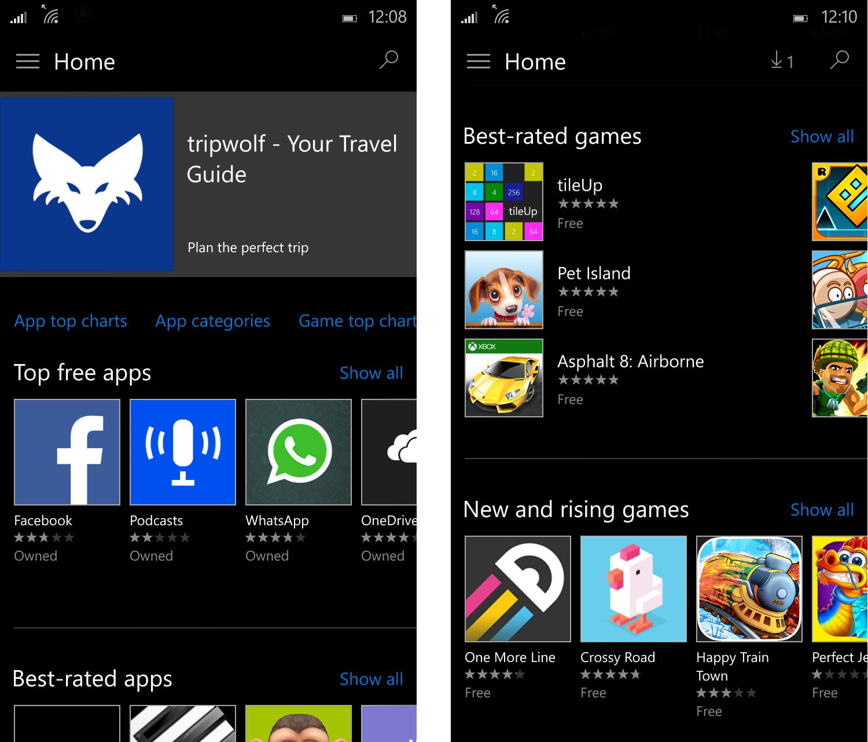 Windows Phone Apps Games