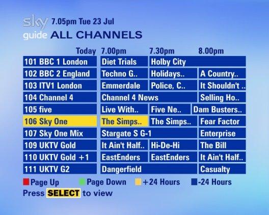 Sky Tv Guide Uk