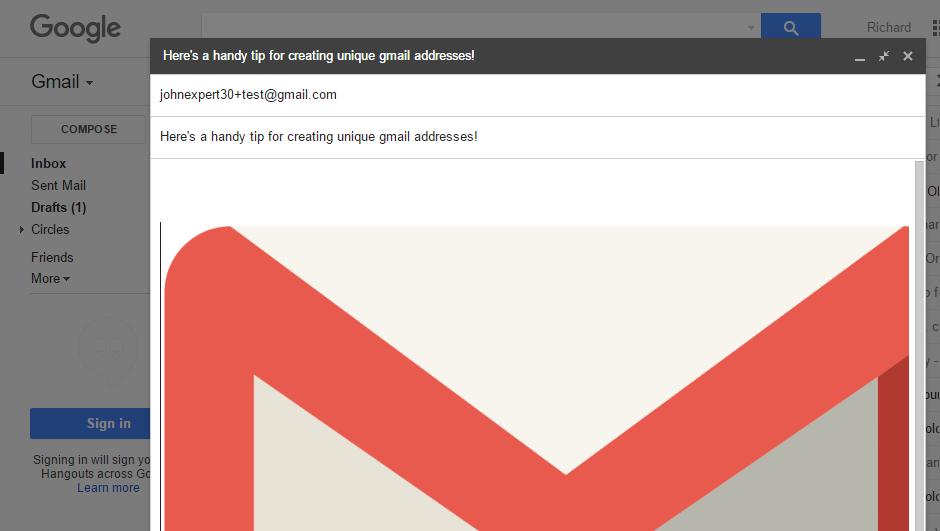 how to create gmail account alias