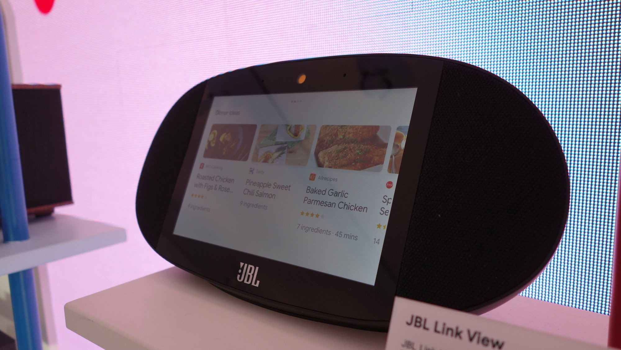 Jbl Link View Preview The Echo Show Rival With Google