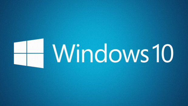 Windows 10 blue logo background