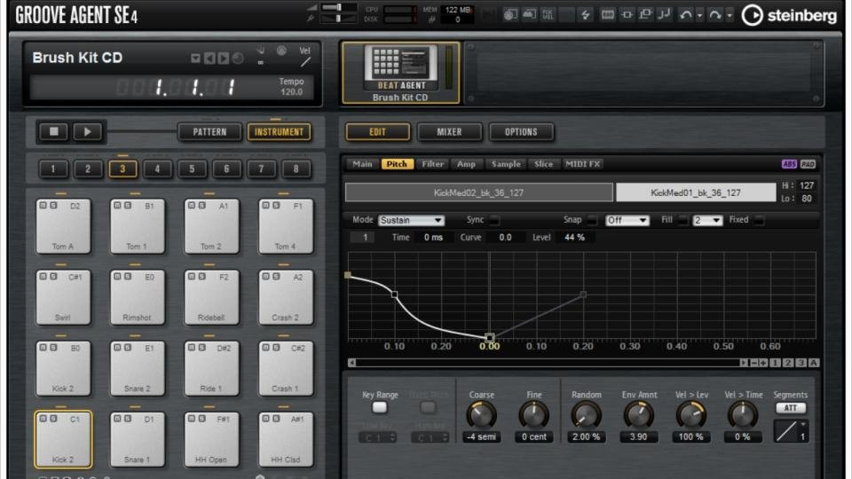 cubase drum machine