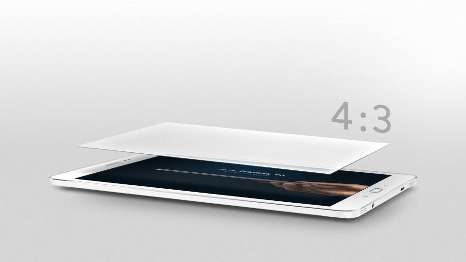 Galaxy Tab S2 4:3 screen press shot