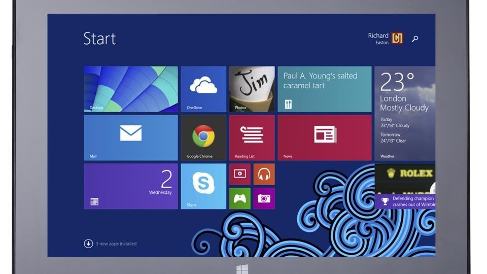Schenker Element tablet front straight