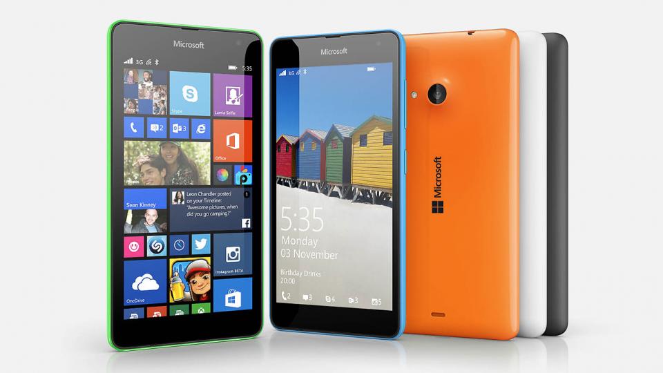 Microsoft Lumia 535 press shot header