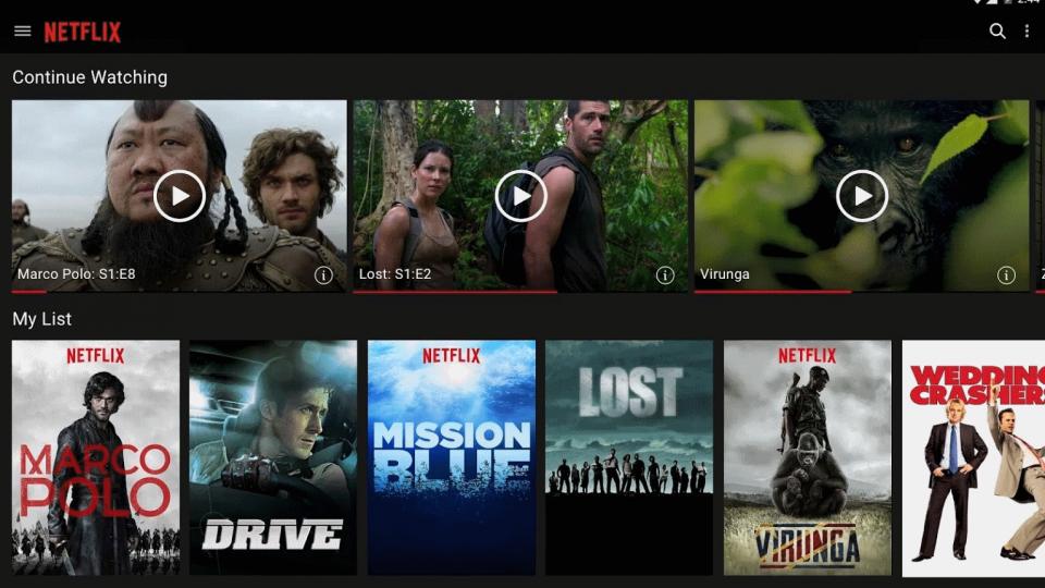 Netflix Android app 2015