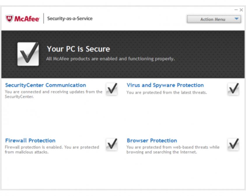 McAfee desktop client