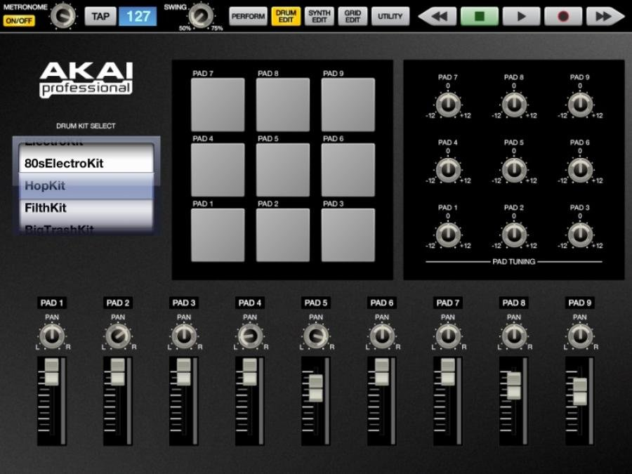 Akai SynthStation Drum Edit Screen