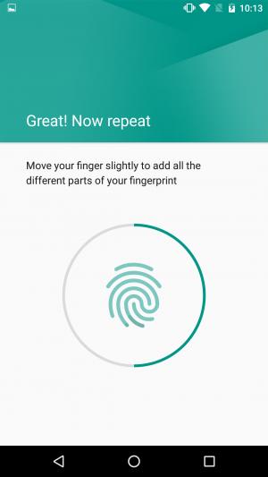 Android 6 fingerprint