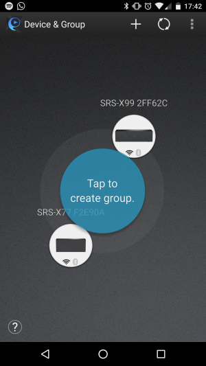 Sony SRS-X77 SongPal app grouping