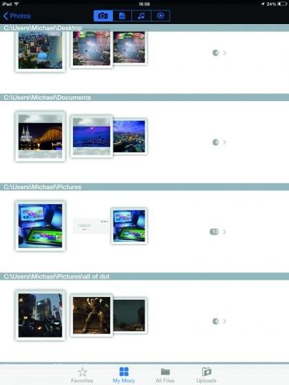 Mozyhome desktop