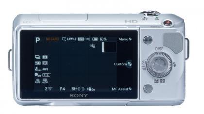 Sony NEX3 Back display