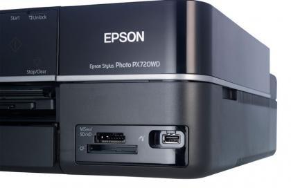 Epson Stylus Photo PX720WD memory card slot