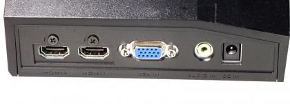 Acer S273HL rear ports