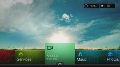 WD TV Live Hub menu
