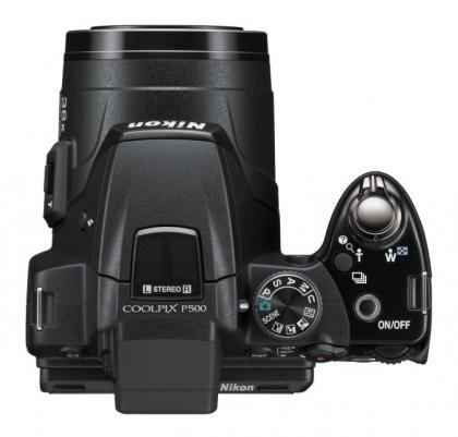 Nikon Coolpix P500 top