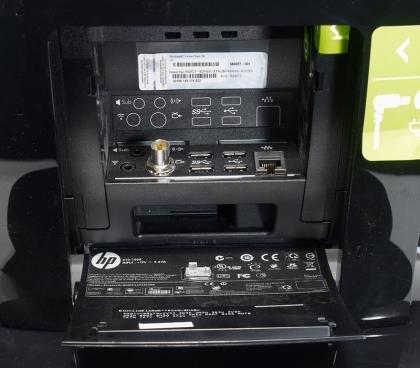 HP TouchSmart 610-1030uk rear ports