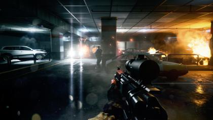 Battlefield 3 car park gun battle
