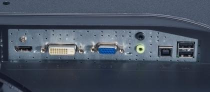 Iiyama ProLite X2775HDS rear ports