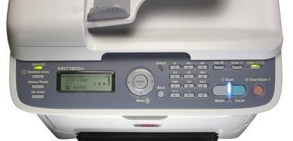 Oki MC160n control panel