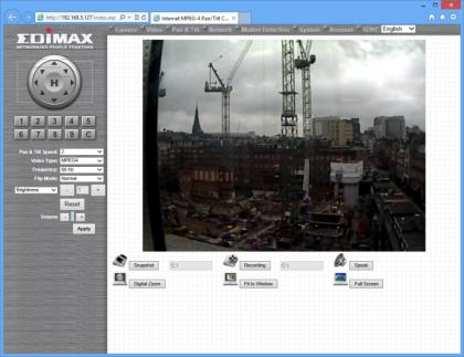 Edimax IP camera interface