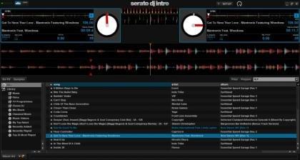 Serato DJ Intro Screenshot