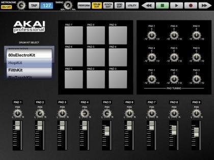 Akai SynthStation Drum Edit Screen