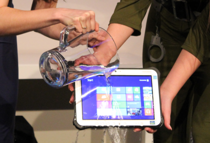 Panasonic FZ-G1 water test close-up