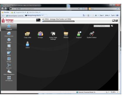 Iomega ix4 interface