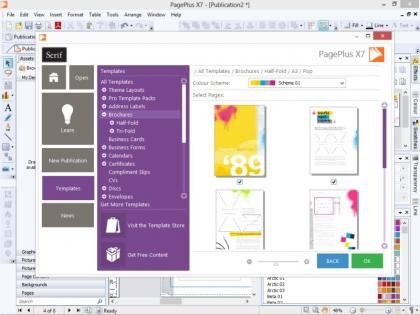 Serif PagePlus X7 - Startup Assistant