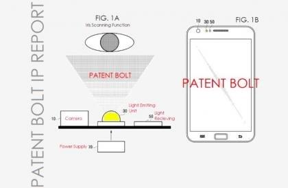 PatentBolt Galaxy S5 eye scanner