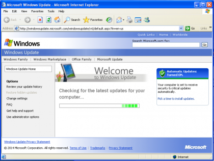 Windows XP Windows Update