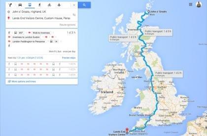 Google Maps coast-to-coast