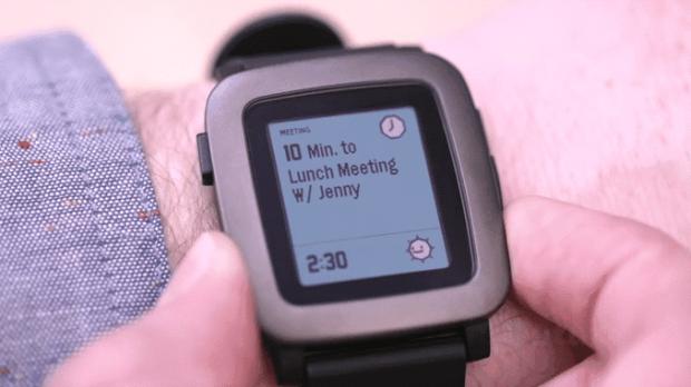 Pebble time interface