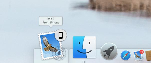 Mac OS X Yosemite Handoff