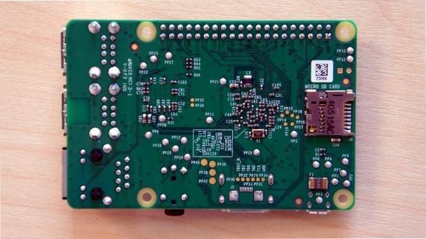 Raspberry Pi B+ bottom