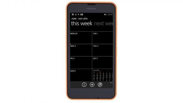 Nokia Lumia 630 face on