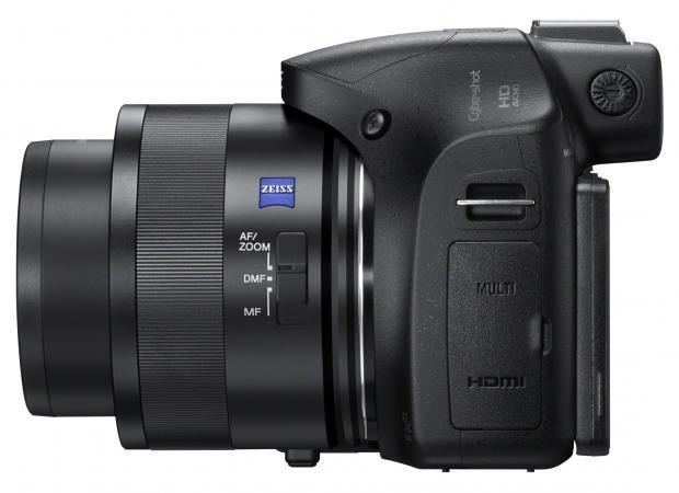 Sony Cyber-shot DSC-HX400V side
