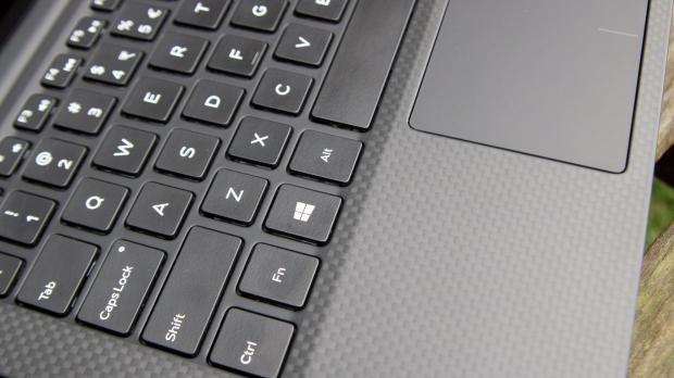 Dell XPS 13 carbon fibre closeup