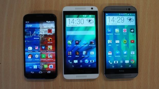 HTC Desire 610 size comparison