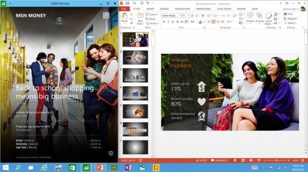 Windows 10 all apps run in a window