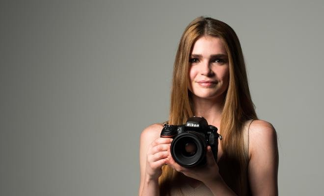 Nikon D810 showing off camera