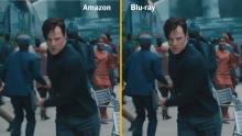 Amazon Instant Video versus Blu-ray quality image Benedict Cumberbatch
