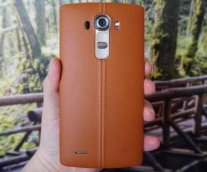 LG G4 leather rear header