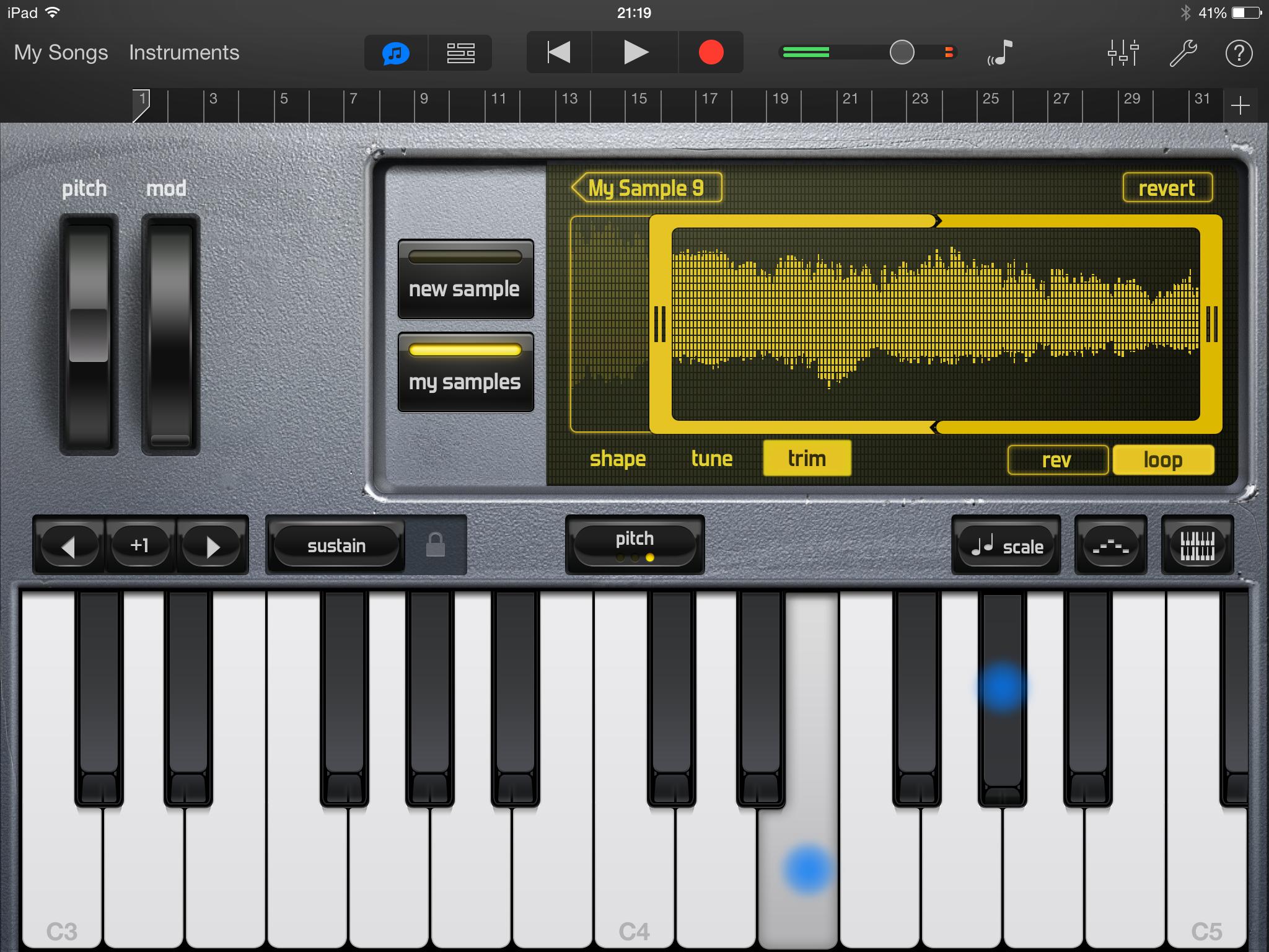 Piano Garage Band : Garageband tutorial how to use garageband on ipad iphone