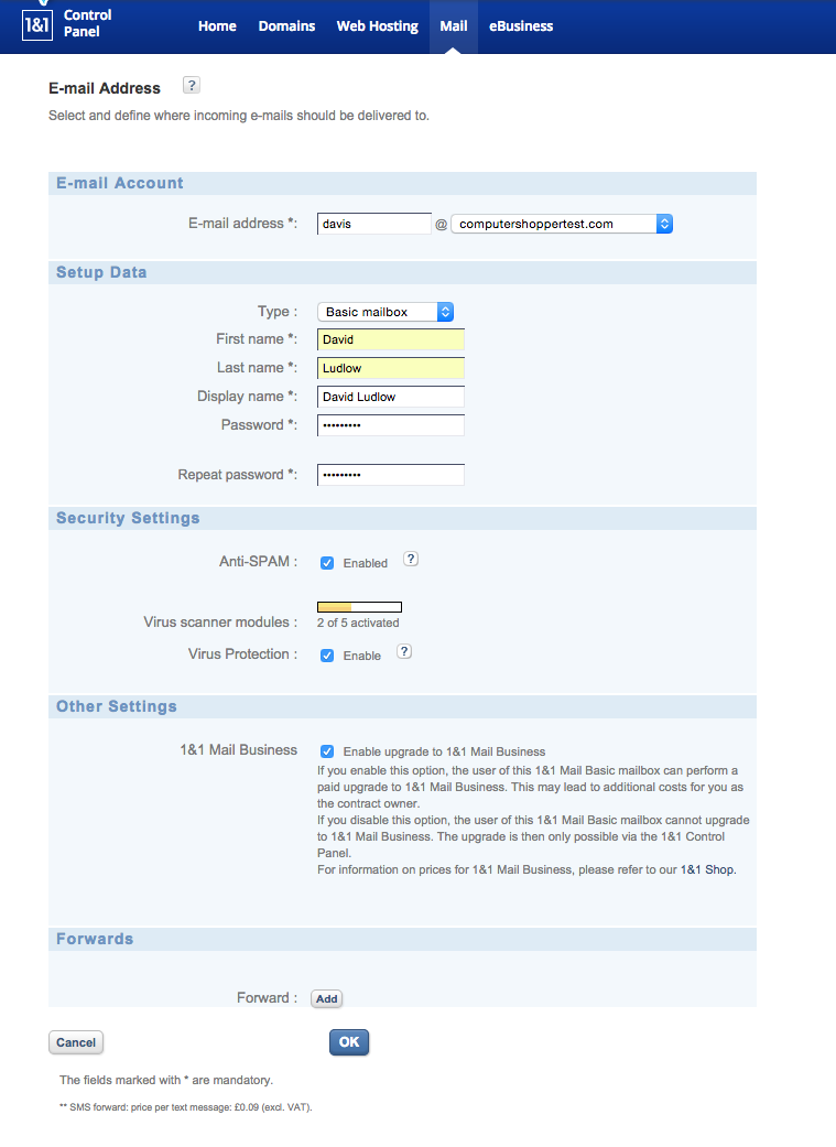 How to create an email account for your own domain name