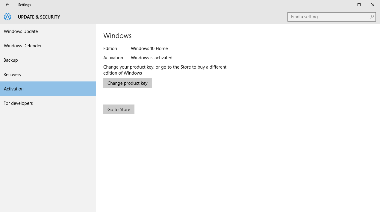 Activate windows 10 with 7 license key