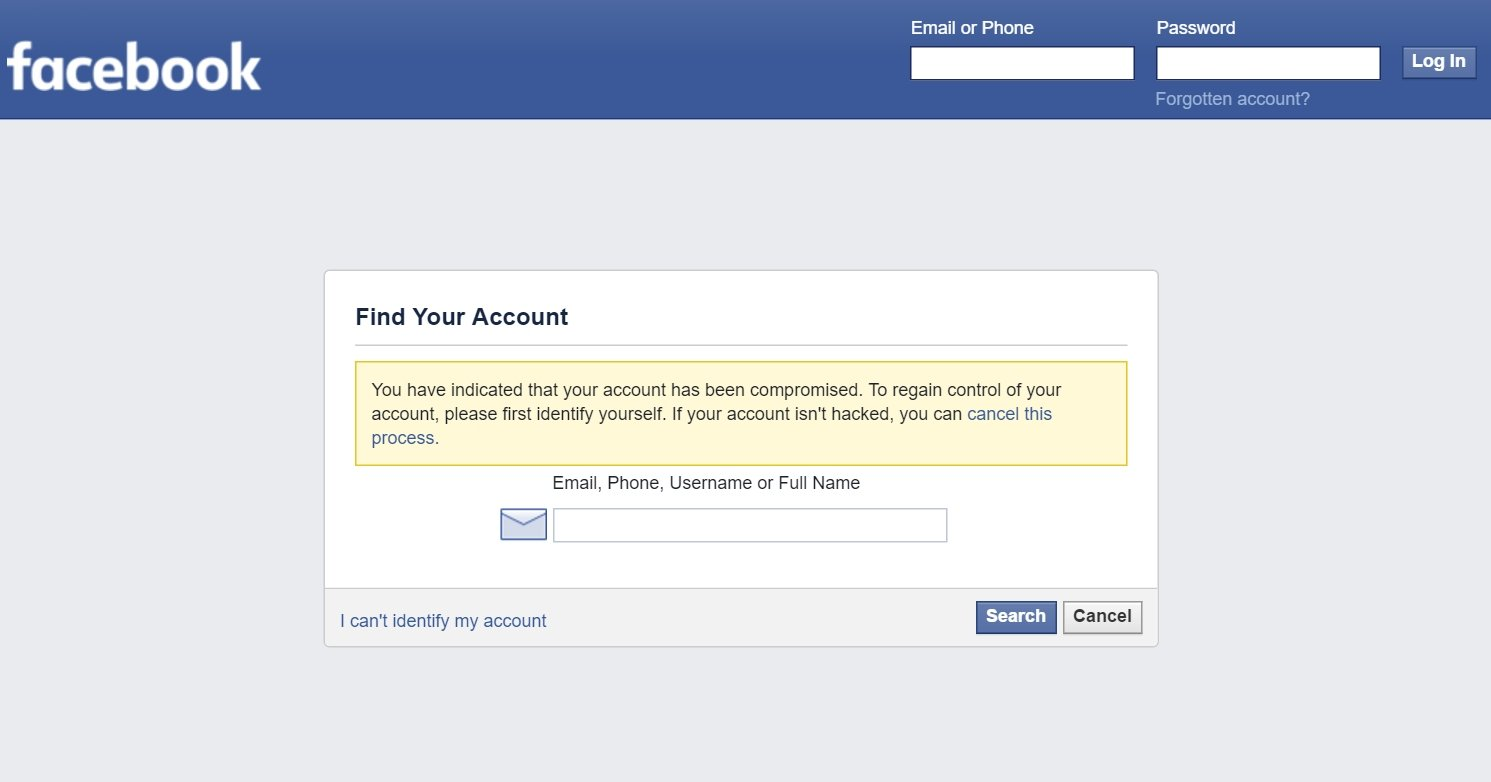 I cannot remember my password for facebook