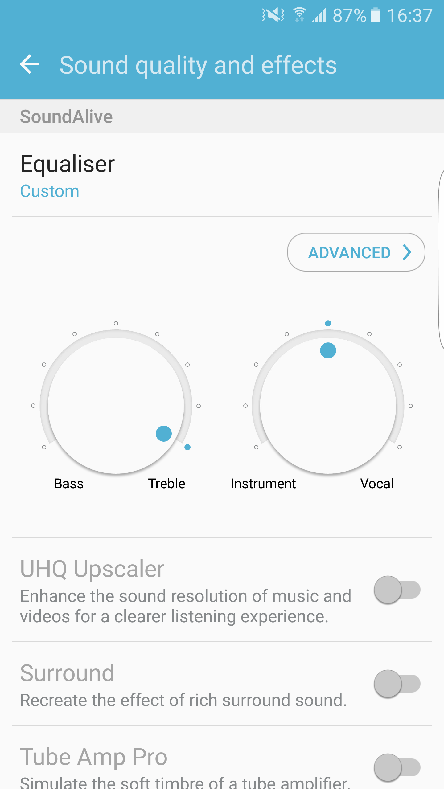 Samsung Equalizer Settings Bass